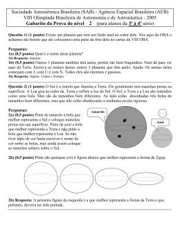 Sociedade Astronômica Brasileira (SAB) - Agência Espacial
