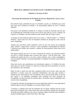 """BÊNÇÃO E APRESENTAÇÃO DO NAVIO """"GILBERTO MARIANO"""