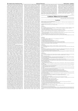 Gabinete Militar do Governador - Pesquisa do Diário Oficial de