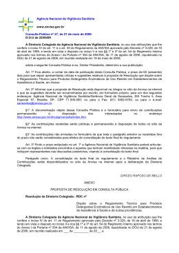 Consulta Pública nº 27, de 21 de maio de 2009.