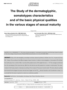 The Study of the dermatoglyphic, somatotypes characteristics and of