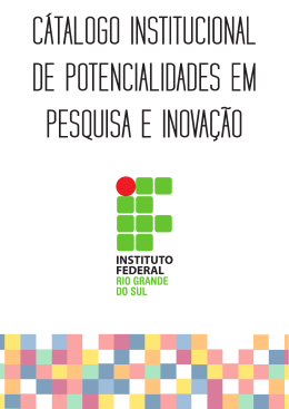 cátalogo institucional de potencialidades em pesquisa e