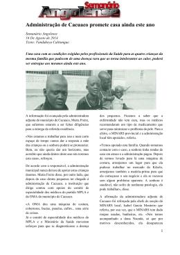 Administração de Cacuaco promete casa ainda este ano