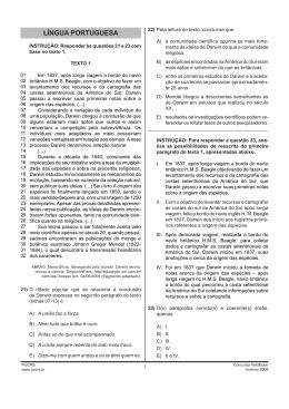 Prova de Língua Portuguesa - Vestibular