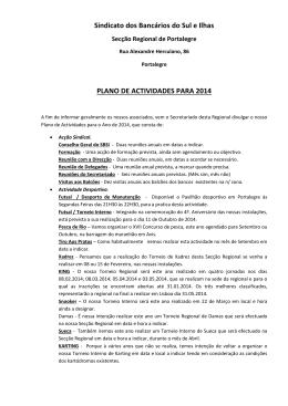 Plano de Atividades para o ano 2014