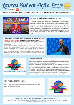 n° 27 – 22 jan 15 - Rotary International – Distrito 4560