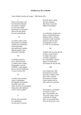 MOBILIZAÇÃO (12/04/08) Autor: Kleber Ferreira de Araújo – DRJ