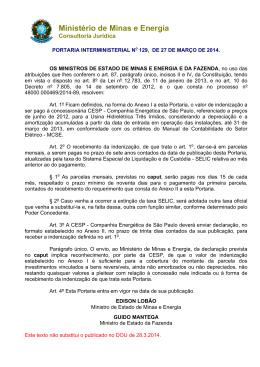 Portaria 129 - Ministério de Minas e Energia