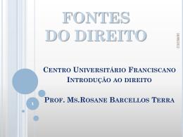 FONTES DO DIREITO