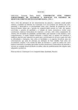 RESUMO GOUVEIA, Fernanda Maria Sabóia