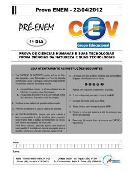 Prova ENEM - 22/04/2012