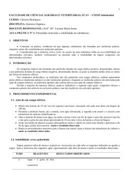FACULDADE DE CIÊNCIAS AGRÁRIAS E VETERINÁRIAS