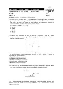 TB – 3º EM FÍSICA - Lucas 1° trimestre Ensino Médio 3º ano classe
