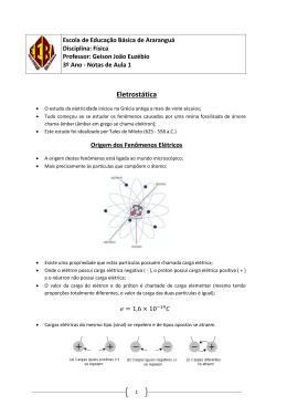 Eletrostática - Prof. Geison João Euzébio