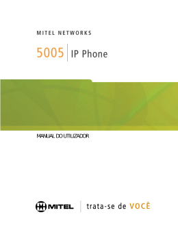 5005 IP Telefone Manual do utilizador