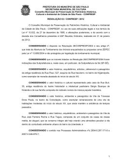 Resolução 03/12 - Prefeitura de São Paulo