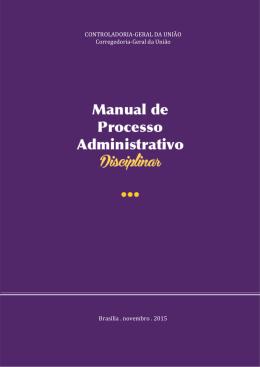 Novo Manual de Processo Administrativo Disciplinar