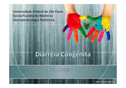 Diarréia Congênita - The Eletronic Journal of Pediatric