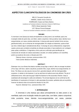 ASPÉCTOS CLINICOPATOLÓGICOS DA CINOMOSE EM CÃES