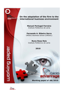 On the adaptation of the firm to the international