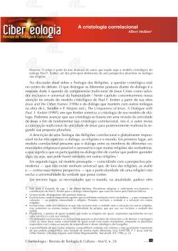 A cristologia correlacional - Ciberteologia