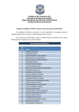 Estado do Rio Grande do Sul Secretaria da Segurança Pública