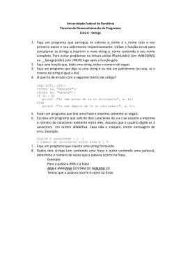 1. Faça um programa que carregue os vetores p_nome e