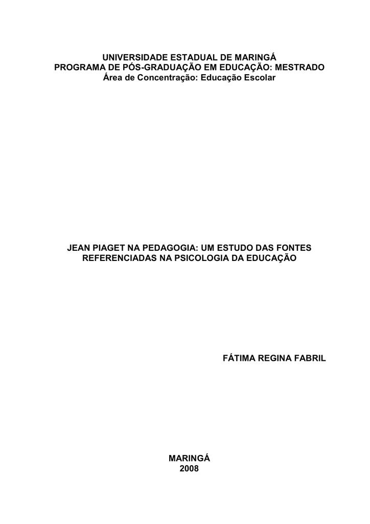 701dc53a695 Dissertação - Programa de Pós-Graduação em Educação