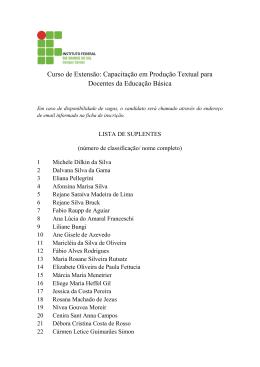 Edital 03 - Homologação Inscrições