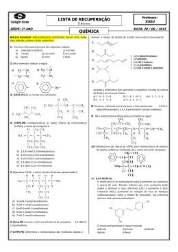 A Representação de fórmulas estruturais