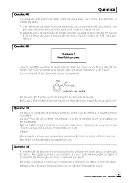 Química - Vestibular UERJ