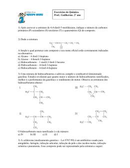 2º ano – Química - Colégio Equipe Grau