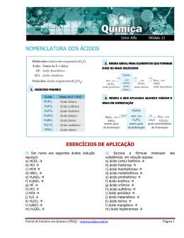 NOMENCLATURA DOS ÁCIDOS - Portal de Estudos em Química