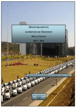 Monitoramento Acidentes de Trânsito MG 2013/2014