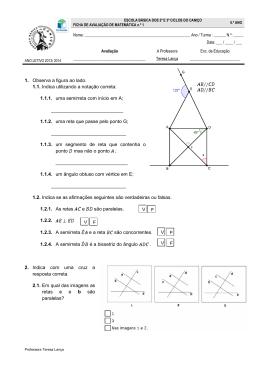 1. Observa a figura ao lado. 1.1. Indica utilizando a notação correta