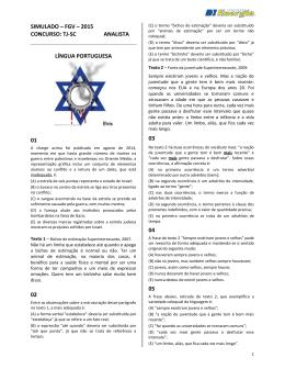 simulado – fgv – 2015 concurso: tj-sc analista língua