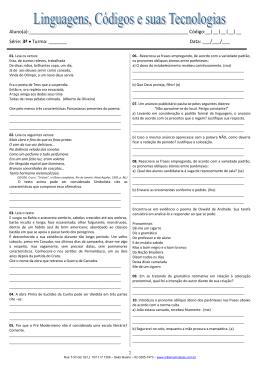 3ª série - Linguagens, Códigos e suas tecnologias