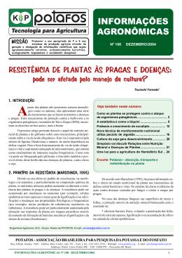 Resistência de plantas às pragas e doenças