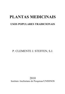 PLANTAS MEDICINAIS - Instituto Anchietano de Pesquisas