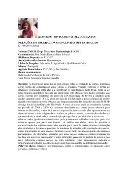 (21/05/2010) – DIVINA DE FÁTIMA DOS SANTOS - PUC-SP