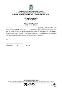 Anexos I e II - Uezo - Governo do Estado do Rio de Janeiro