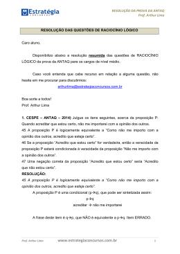 Resolução da prova - ANTAQ