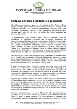 Carta dos Munduruku ao governo brasileiro e à