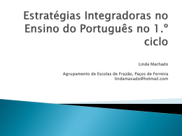 Estratégias Integradoras no Ensino do Português no 1.º ciclo