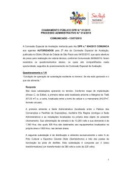 Comunicado - 13/07/2015