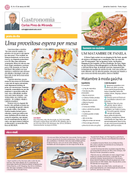 Gastronomia - Jornal do Comércio