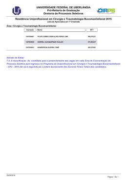 Lista de Aprovados em 1ª Chamada - Diretoria de Processos Seletivos