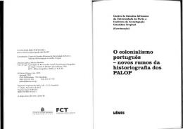 O colonialismo Português: novos rumos da historiografia dos PALOP