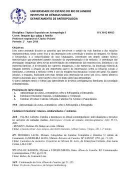Tópicos Especiais em Antropologia I-Clarice Peixoto