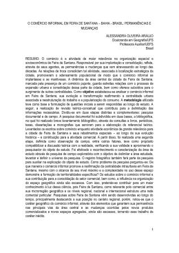 O COMÉRCIO INFORMAL EM FEIRA DE SANTANA